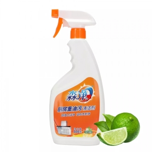 Weiqi Kitchen Oil Cleaner Сред. очищ. д/удал. жира д/кух. с апел. масл. 500мл [18шт/к] Арт-610483